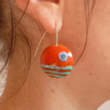 Earrings Lune Orange