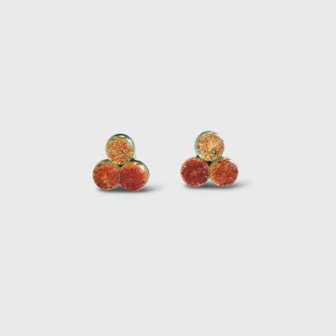 Boucles d'oreilles TRINE orange