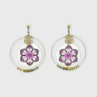 Boucles d'oreilles Collection Lotus rose