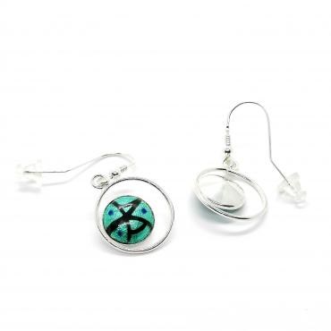Earrings Feuille d'Argent Turquoise