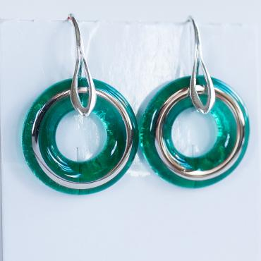 Earrings Wedding ring emerald