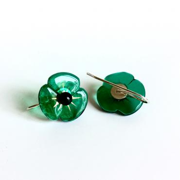 Earrings COQUELICOT emerald
