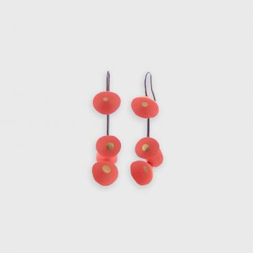 Earrings Coquillages corail