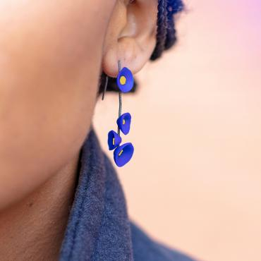 Earrings Coquillages blue ultramarine