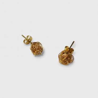Earrings boule Chanvre OP