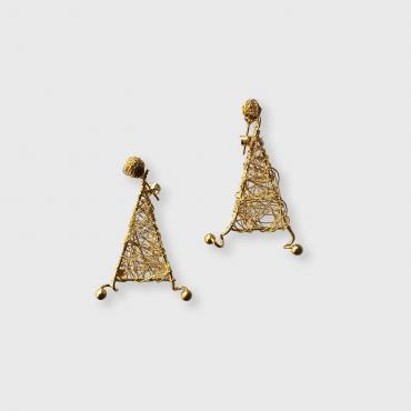 Earrings triangular Chanvre OP