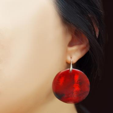Earrings Coraux n°1- Collection Voyage Imaginaire aux Iles Marquises
