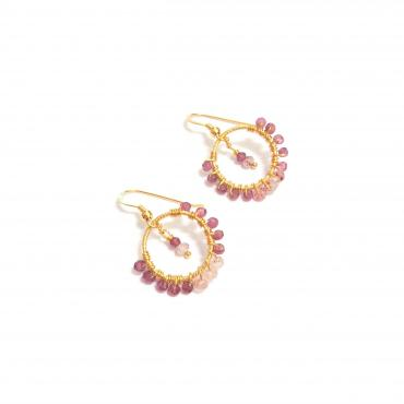 Earrings Rhodolite