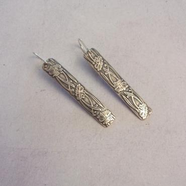 Earrings Ethnic Solid Silver Flores
