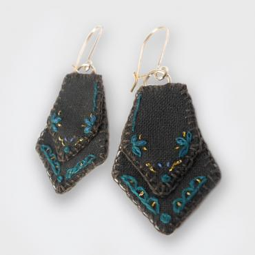Boucles d'oreilles textile collection Haan