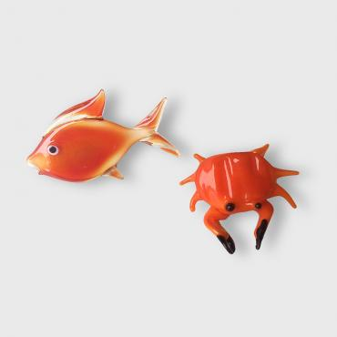Earrings Houat fish/crab