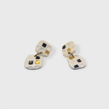 Boucles d'oreille pendantes Collection Pixels