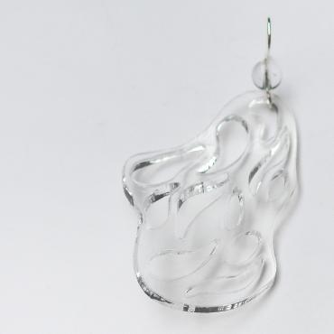 Earrings Ecume L - Transparent