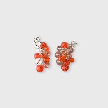 Boucles d'oreille Rithm L - Orange