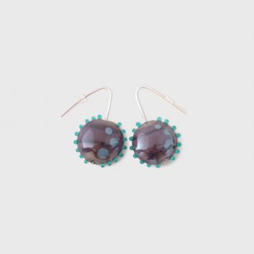 Earrings Soleil Prune