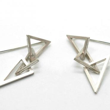 Earrings 3 triangles