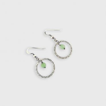 Earrings Terena - Solid Silver and Aventurine