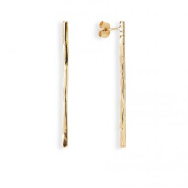 Earrings Brindille n°1 or