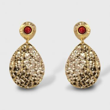 Earrings Byzance red
