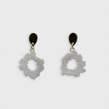 Earrings Capucine blanc