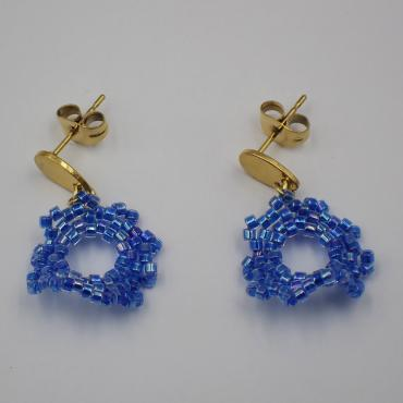Earrings Capucine bleu irisé