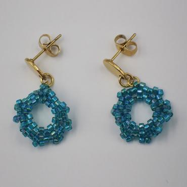 Earrings Capucine bleu turquoise