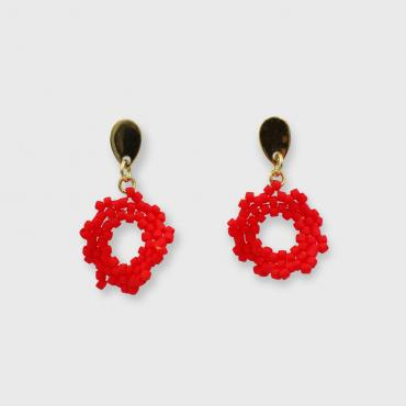 Earrings corail
