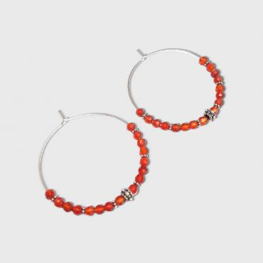 Hoop earrings Marajó Cornelian
