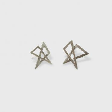 Boucles d'oreilles double triangles