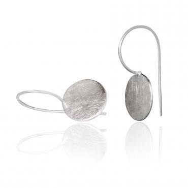Earrings DOTS, dormeuses in ethical silver RJC mat
