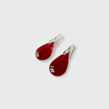 Earrings Gouttes rouge Grenat