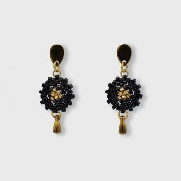 Earrings Lilou noir et or