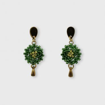 Earrings Lilou vert irisé