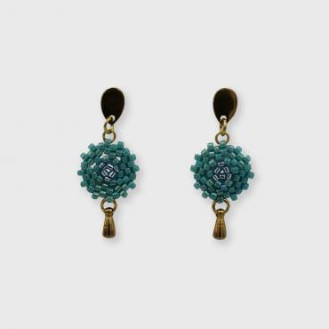 Earrings Lilou vert turquoise