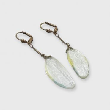 Earrings motif plume