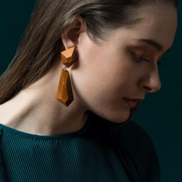 Boucles d'oreilles Nouk orange
