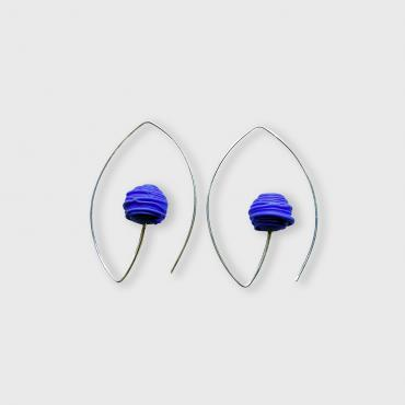 Oval earrings Bobine bleue