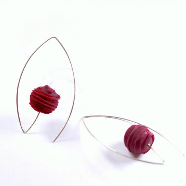 Earrings ovales Bobines rouges
