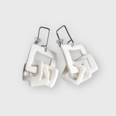 Earrings Pampilles white