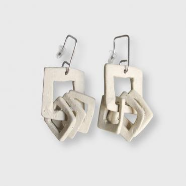 Earrings Pampilles beige