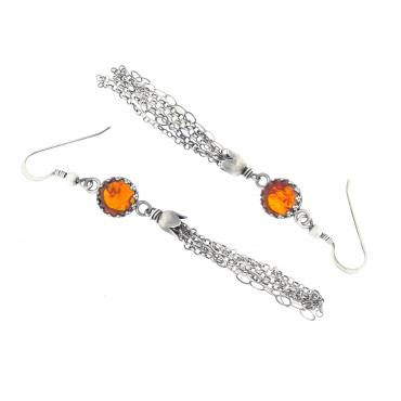 Earrings Pompon Ambre