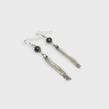 Earrings Pompon Onyx
