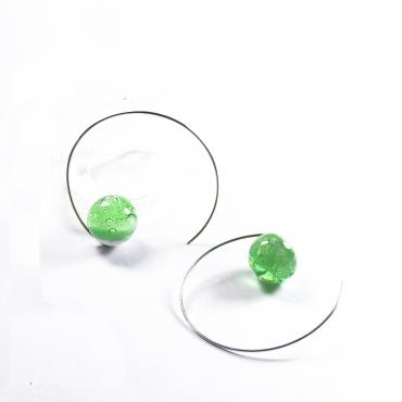 Round earrings BB Oxygène vert