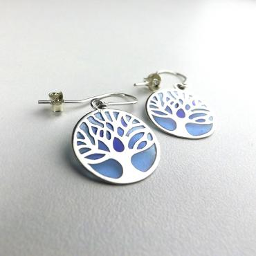 Earrings Arbres Plique à Jour