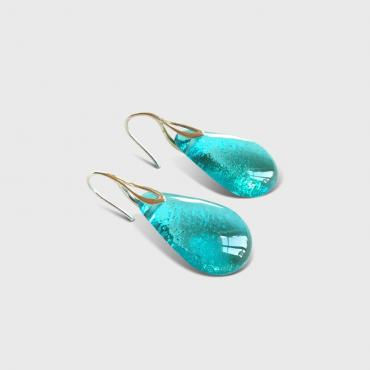 Earrings Gouttes Aquamarine