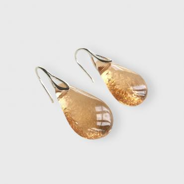 Earrings Gouttes Champagne