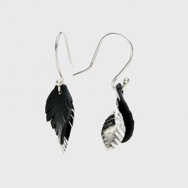 Earrings Plumes mini chic silver