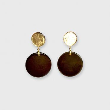 Earrings POP black-gold