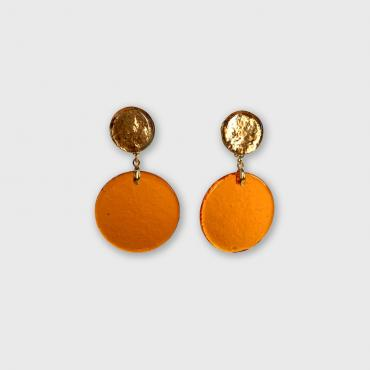 Boucles d'oreilles POP orange-doré