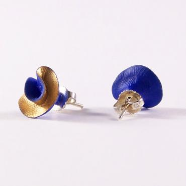 Earrings Synergie blue and gold